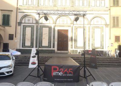 Palco in alelstimento Piazza dei Leoni